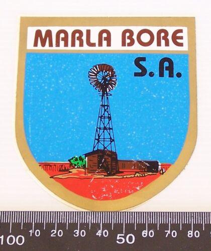 VINTAGE MARLA BORE SOUTH AUSTRALIA SOUVENIR PROMOTIONAL STICKER
