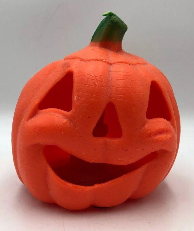Vintage Gurley Halloween Candle Jack O Lantern Pumpkin-2