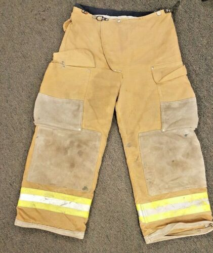 30x26 Firefighter Pants Bunker Fire Turn Out Gear Brown Janesville  P811