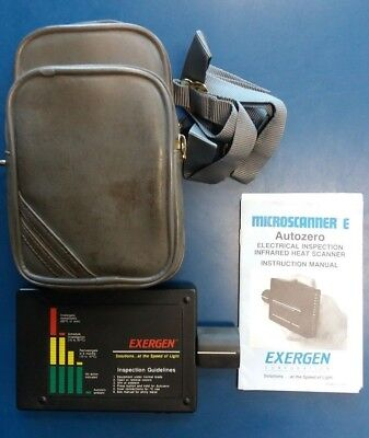 Exergen Microscanner E Autozero Infrared Ir Scanner Electrical Inspection Meter