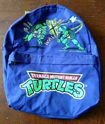 VINTAGE 1989 TEENAGE MUTANT NINJA TURTLES TMNT CHILDREN'S PURPLE BACKPACK  - Kid Tmnt