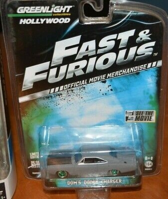 VERY RARE GREENLIGHT GREEN MACHINE FAST & THE FURIOUS DOM'S DODGE CHARGER + GIFT