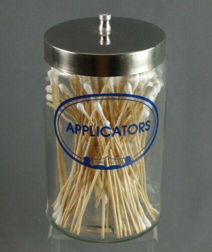 VINTAGE GRAFCO APPLICATORS APOTHECARY MEDICAL DOCTORS OFFICE GLASS JAR