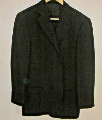 Armani Collezioni Mens Classic Three Button Blazer Jacket Black Size Eur 38