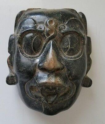 Pre-Columbian Mayan Jade Stone Kinich Ahau Mask