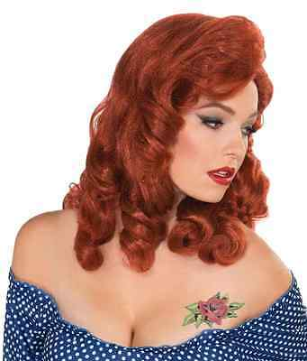 Viv Wig Retro Rock 40's Pin Up Pinup Fancy Dress Up Halloween Costume Accessory - 1950's Pin Up Halloween Costumes