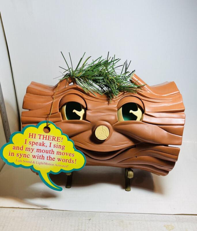 VTG YULE BURNER Talking Singing Log! Animated WORKS Walmart