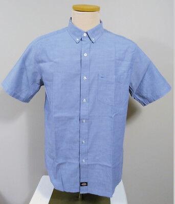 - Dickies Oxford Blue Men's Short Sleeve Button Down Collar Shirt Size Medium