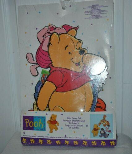NEW DOLLY Inc,  Disney Nursery Room Decor Set POOH Tiger Piglet Eeyore Wall Hang