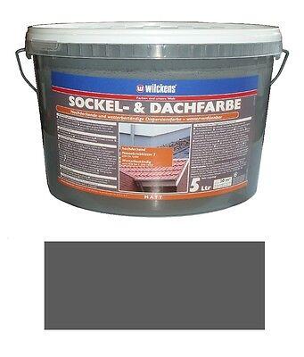 Wilckens 5 L. Sockel- & Dachfarbe, Schiefer Matt, hochdeckende, wetterbeständig