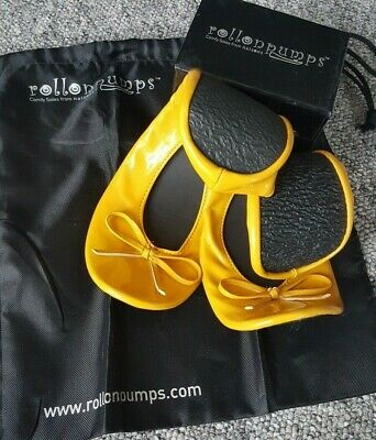 Rollasole Rollable After Party Shoes in Yellow ***SALE*** UK Size 9 - 10