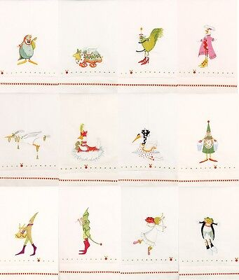 Patience Brewster - Christmas - 12 Days of Christmas Tea Towel Set - 08-30688S
