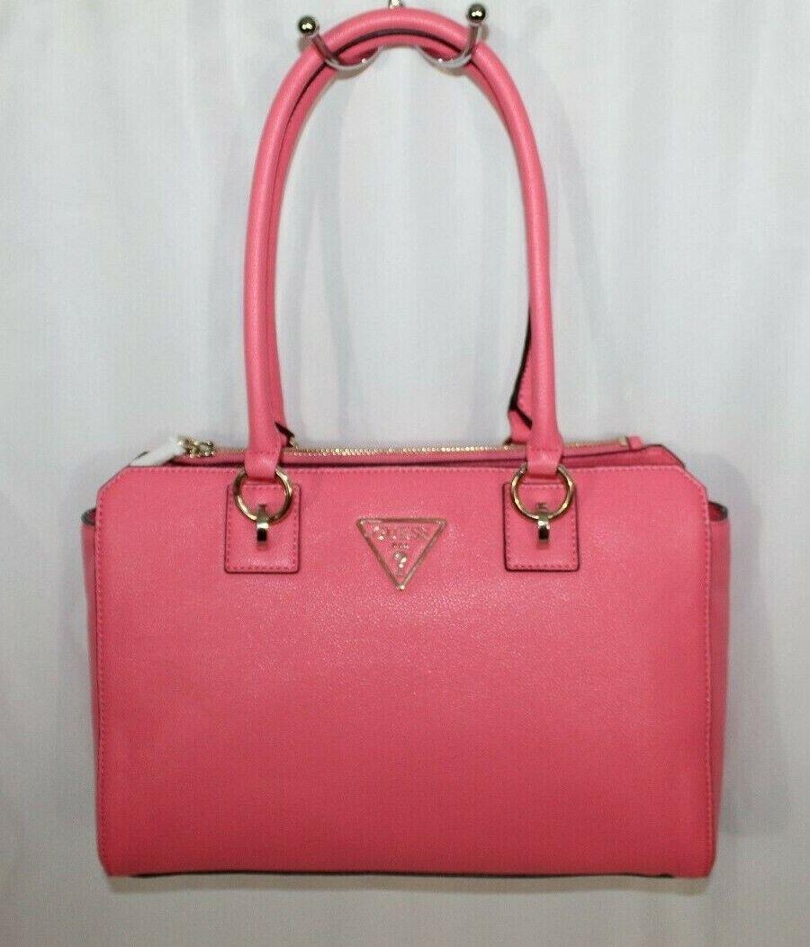 Guess Women's Pink G Legend Logo Shoulder Strap Satchel Hand