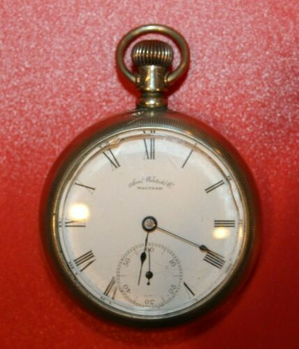 1888 Waltham, 18s, 7j, Pocket Watch Model 1883 Grade No. 1 FARAYS ORE WORKING