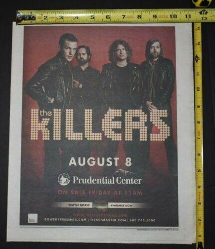 The Killers 2013 Color Concert Ad Battle Born Prudential Center NJ