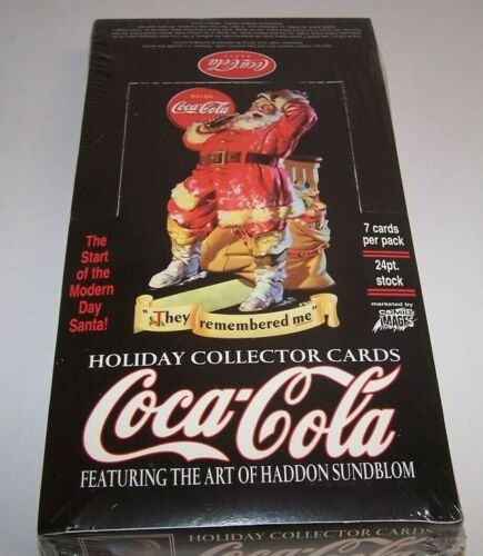 Coca-Cola Holiday Collector Cards Featuring Art of Haddon Sundblom Sealed Box