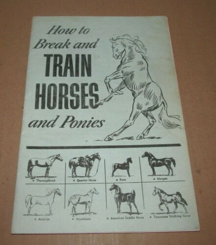 Vintage Jesse Beery How To Break and Train Horses and Ponies Booklet
