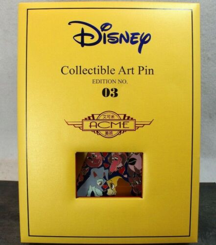 B3 Disney Hot Art Acme Jumbo Pin Litho LE 100 LADY and the TRAMP SIDE BY SIDE