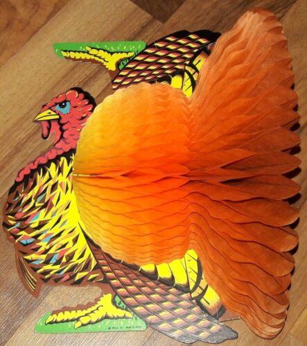 Vintage BEISTLE Paper Honeycomb Thanksgiving Tom Turkey Fall Decor
