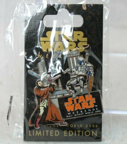 C3 Disney WDW LE Pin Star Wars Weekends 2006 Obi-Wan Kenobi Jango Fett Battle