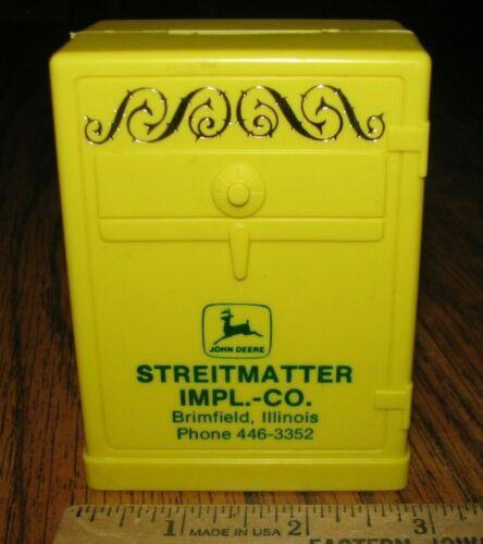 John Deere Dealer Dealership STREITMATTER IMPLEMENT Brimfield IL Collector Bank