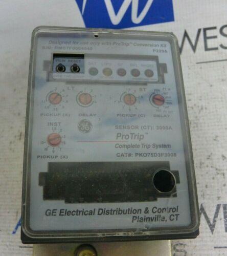 GE General Electric ProTrip PKO75D3F3008 Sensor (CT) 3000A Complete Trip System