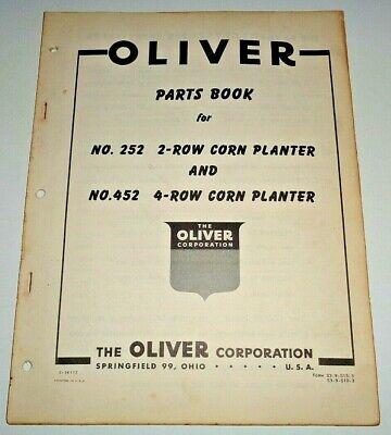 Oliver 252 2-row 452 4-row Corn Planter Parts Catalog Manual Book Original