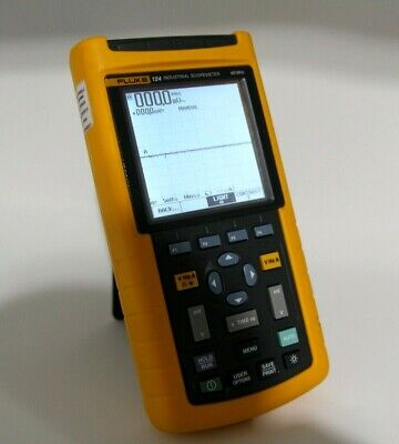 Fluke 124 Industrial Scopemeter - 40 Mhz -- Excellent Condition Oscilloscope Ac