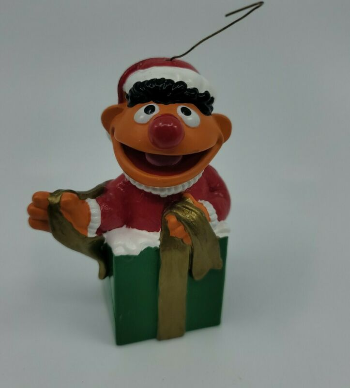 Sesame Street Ernie Christmas Ornament Jim Henson Productions Vintage Collectibl