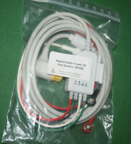 MRL PATIENT CABLE 4 LEAD 12 POLE V1-V6 001835 FOR WELCH ALLYN MONITOR