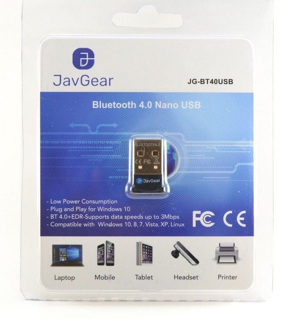 JavGear USB Bluetooth 4.0 Adapter Wireless Dongle for Window