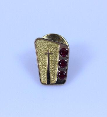 0.5 Award - Beautiful 10K Yellow Gold Terry Berry Made Cross Employee Pin 0.5