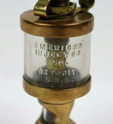 Vintage Brass Oiler American Injector Co Detroit Hit Miss