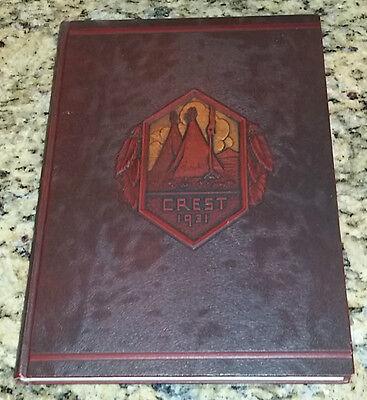 1931 Peoria High School The Crest Peoria Illinois Yearbook