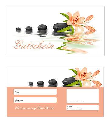 100 x Geschenkgutscheine (Wellness-616) TOP Gutscheine für Wellness Massagen uvm