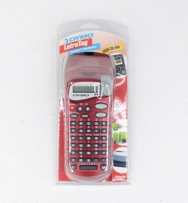 Dymo Letratag Red Label Maker Brand New Factory Sealed