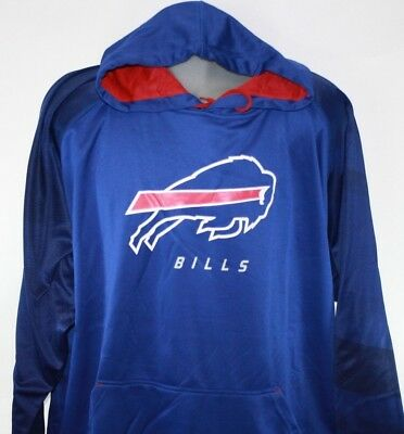 NEW Mens NFL Majestic Therma Base Buffalo Bills Poly Fleece Royal Blue -