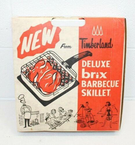 Vintage NOS NIB NEW Portable Charcoal Grill BRIX Camping Tailgating BBQ 1966