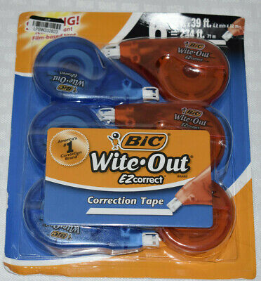 Bic Wite-out Ezcorrect Correction Tape - 6 Pack 16 In X 39 Bq