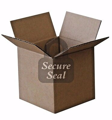100 4x4x4 200 Lb 32 Ect Cardboard Shipping Mailing Moving Packing Corrugated Box