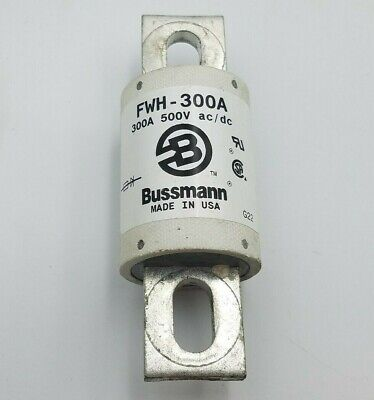 Bussmann Fwh-300a Semiconductor Fuse 300a 500v Fwh300a 300 Amp Electrical Used