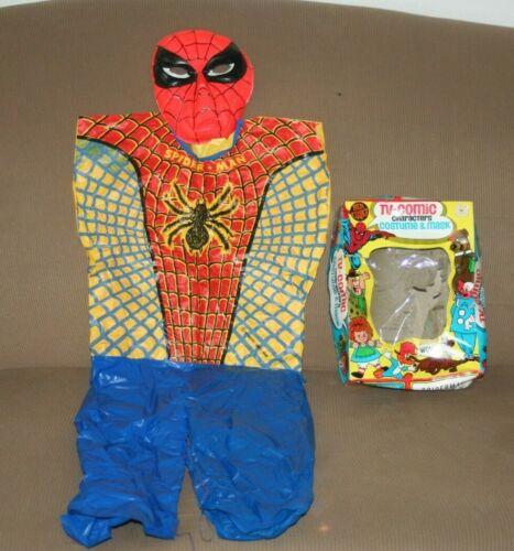 Vintage 1972 Ben Cooper Spider-Man 823 Costume & Mask Child