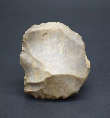 Neolithic flint discoid scraper C. 4500 - 2500 BC - British found
