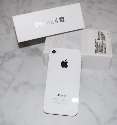 Apple iPhone 4 4S 16GB White AT&T Smart Cell Phone A1387 MC924LL/A 16 GB wBOX for sale  Shipping to India