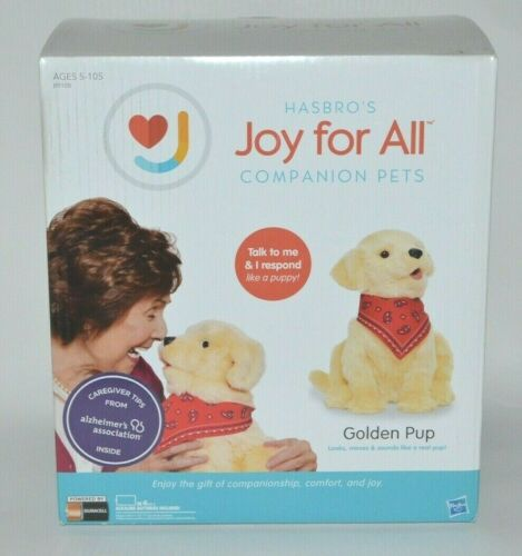 Joy For All Interactive Companion Pet Golden Pup Puppy Dog NEW Hasbro Realistic