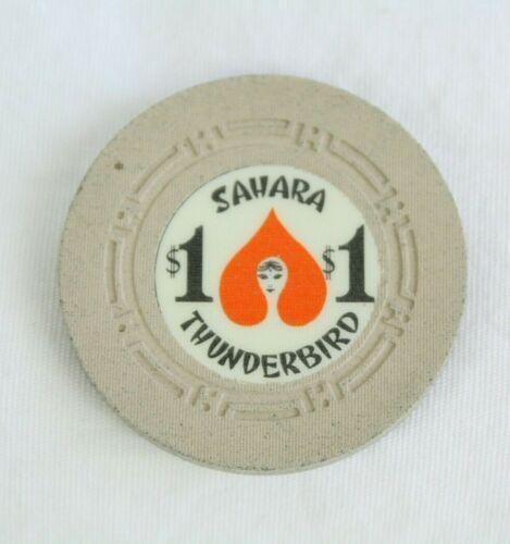 Sahara Thunderbird $1 Las Vegas Casino Poker Chip