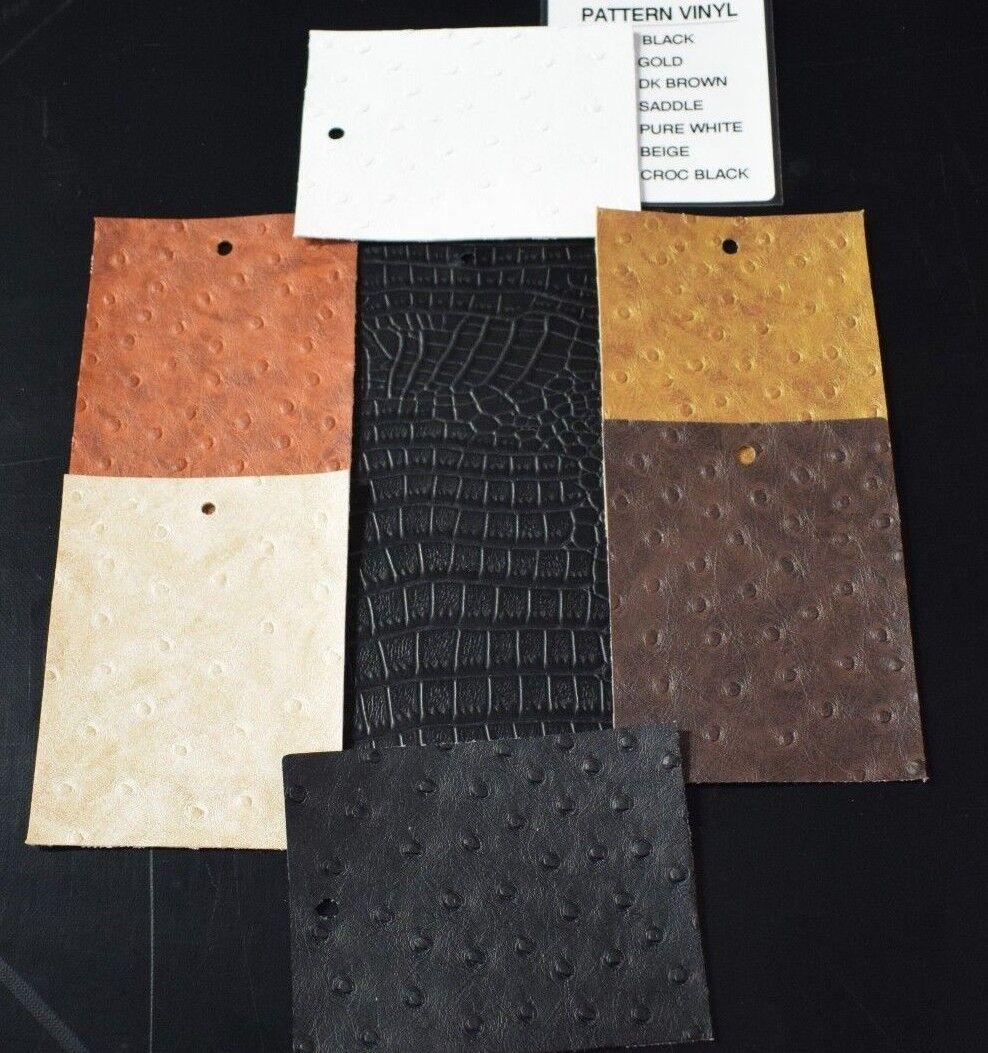 Ostrich Emu Crocodile Faux Leather Exotic Animal Vinyl Uphol