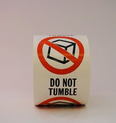 Do Not Tumble Labels 3 X 4 - 500 Per Roll - Shipping Label