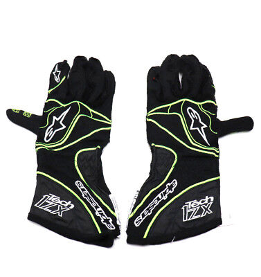 ALPINESTARS GLOVES Tech 1-ZX Nomex Black / Yellow Auto Racing Homologated L NEW Nomex Racing Gloves
