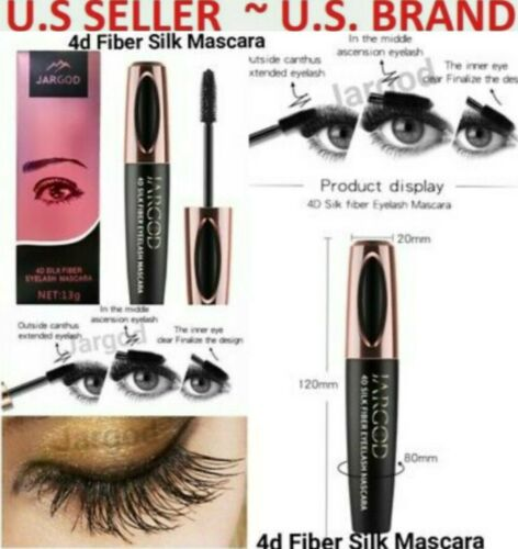 4D Silk Fiber Eyelash Mascara Waterproof Length Thick Long Lasting Smudge-Proof